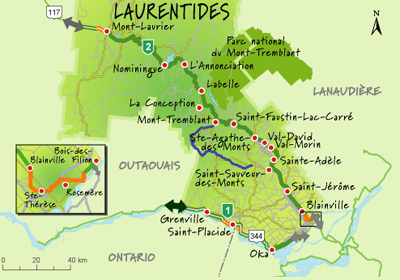 Route Verte in the Laurentians